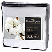 Kings & Queens Luxury Cotton Mattress Protector King