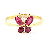 QP Jewellers 0.60ct Ruby Butterfly Ring in 14K Gold