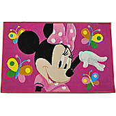 Minnie Mouse Butterfly Bedroom Rug