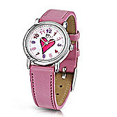 Jo For Girls Heart Dial Pink Strap Watch for Girls