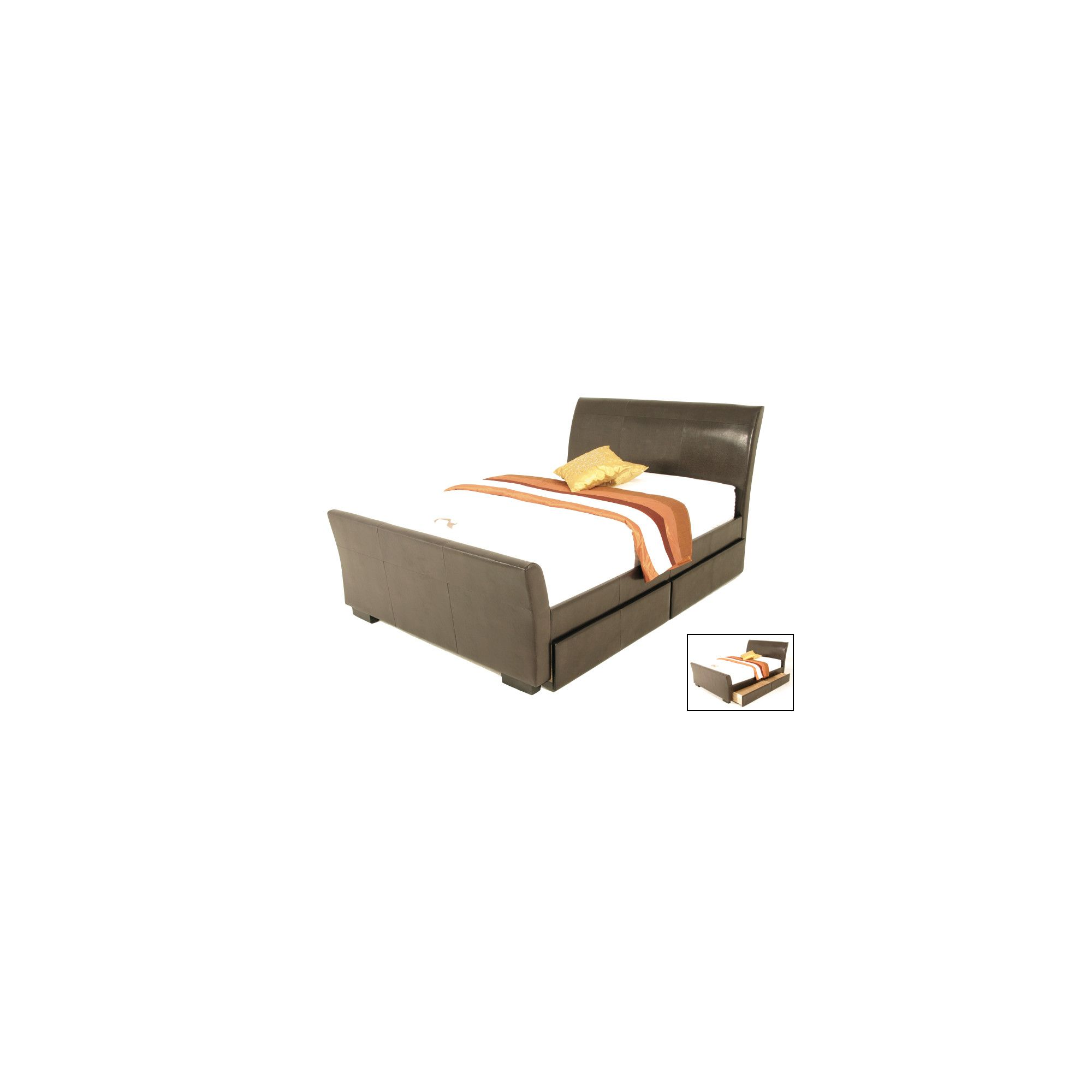 Elements Tripoli Bed - Brown - Double at Tesco Direct