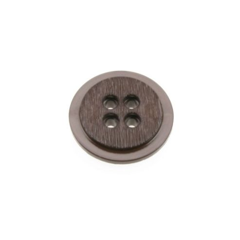 Dill Buttons 30mm Round Rebate Brown