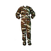 Green Camouflage Kids Onesie (Extra Small)