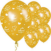 11' Just Married Gold (25pk)
