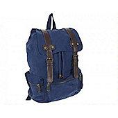 Summit Canvas Rucksack Blue