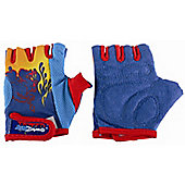 Kidzamo Boys Protective Cycle Glove / Mitt with Blue Flame Design
