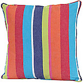 Homescapes Cotton Multi Coloured Stripe Scatter Cushion, 45 x 45 cm