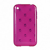 iPhone Silicone Case Skully Vitton Pink