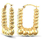 Jewelco London 9ct Yellow gold Creole Earring