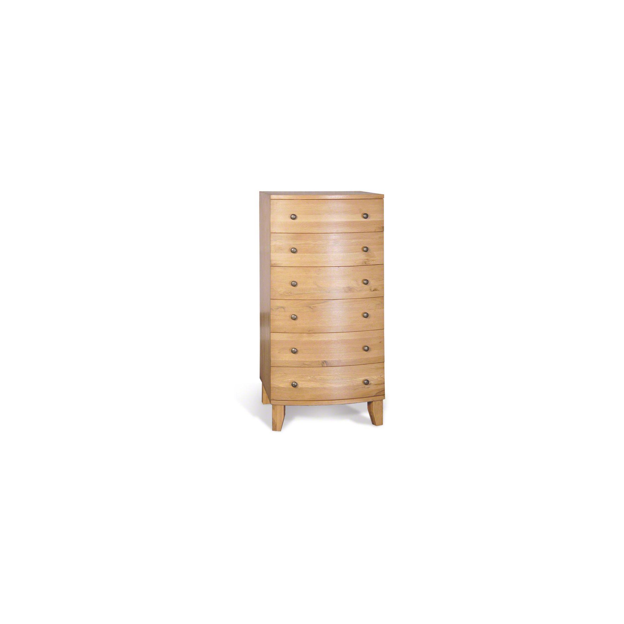 Oceans Apart Cordoba Pine Six Drawer Tallboy - Oak at Tesco Direct