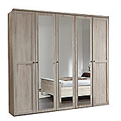 Wimex Chalet 5 Door 3 Mirror Wardrobe