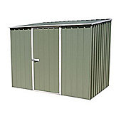 Absco 2.26m x 1.52m Pale Eucalyptus Colour Metal Shed