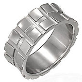 Urban Male Contemporary Men's Stainless Steel Ring 8mm Wide Band Size P