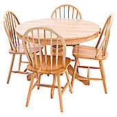 Origin Red York Round Dining Table Set - Natural
