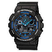 Casio G-Shock Mens Resin Chronograph Watch GA-100-1A2ER