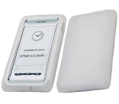iTALKonline SoftSkin Silicone Case White -For LG GT540