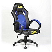BraZen Shadow PC Gaming Chair - Blue/Black