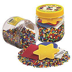 Hama 4000 Beads With Pegboard Yellow Tub