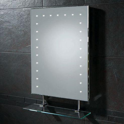 HIB Keo LED Illuminated Mirror with Shaver Socket