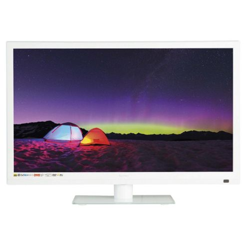 Technika 22E21W-FHD/DVD 22 Inch Full HD 1080p Slim LED TV/DVD Combi With Freeview - White