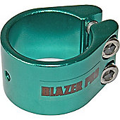 Blazer Double Collar Scooter Clamp - Green