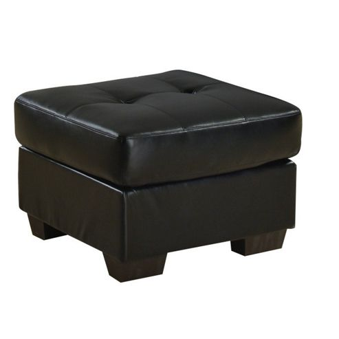 Furniture Link Gemona Footstool in Black