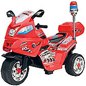 Duplay 6v Kids Electric Fire Rescue Bike - Red
