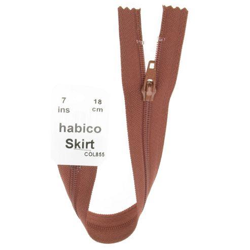 Skirt Zip - 18cm - Tan