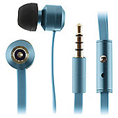 Kitsound Ribbons w/mic In-Ear Blue