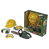 Bosch Chainsaw, Helmet & Work Gloves