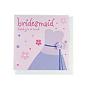 Fashionista Bridesmaid Wedding Thank You Card