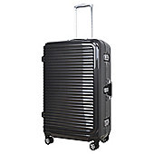 Tesco  8-Wheel Hard Shell Charcoal Large Suitcase