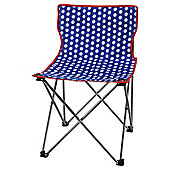 Tesco Festival Folding Camping Chair, Polka Dot