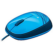 Logitech M105 Wired Ambidextrous Optical Mouse - Blue