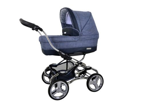 Bebecar Stylo Chrome Combination Pushchair, Denim