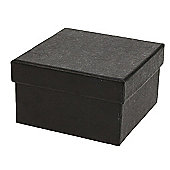 Black Recycled Paper Box - Medium Deep
