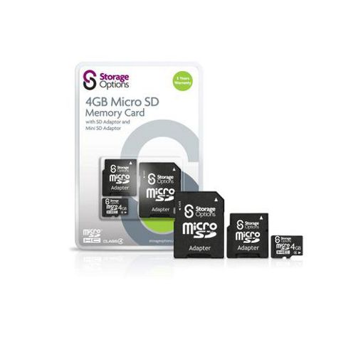 Storage Options 4GB Class 4 Micro SDHC