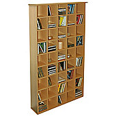 Pigeon Hole - Cd Media Storage Shelves - Oak