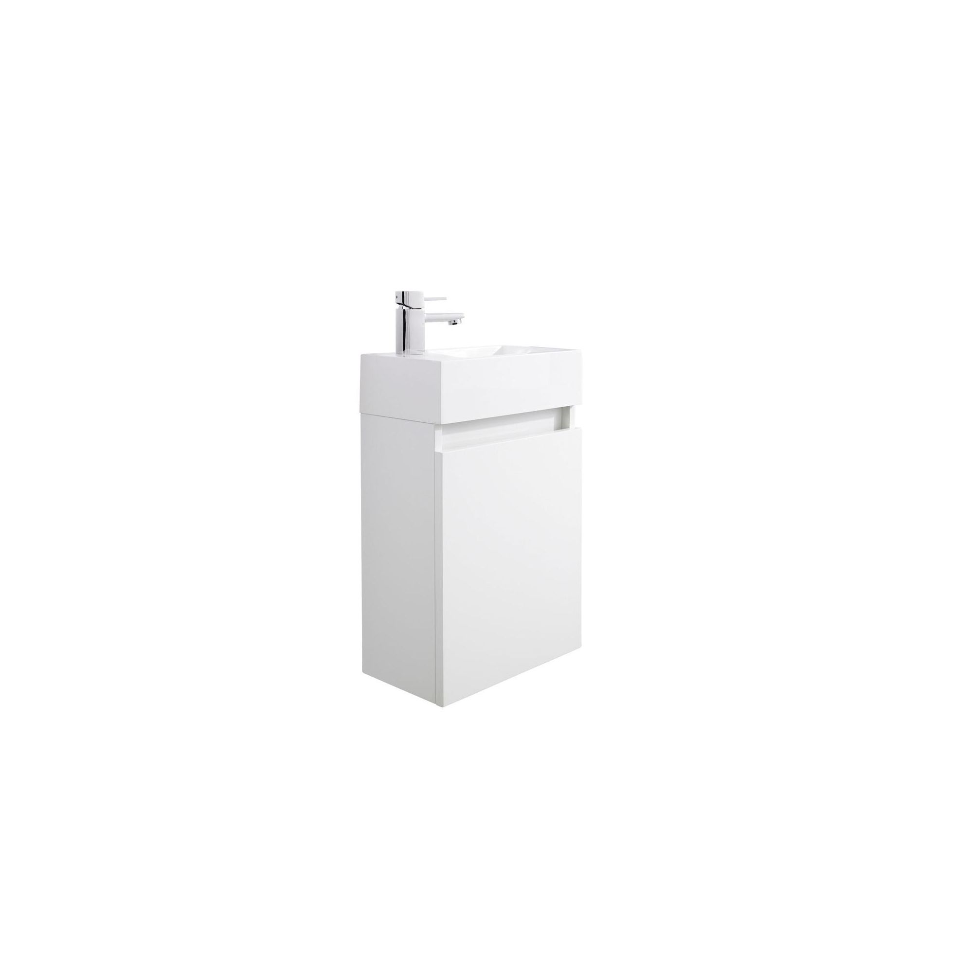 Zone Wall Hung Basin and Cabinet - High Gloss White