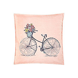 Dickins & Jones Bicycle Pink Cushion - Pink