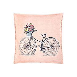 Dickins & Jones Bicycle Pink Cushion - Pink
