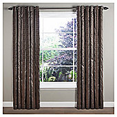 "Sierra Lined Eyelet Curtains W117xL137cm (46x54"") - - Charcoal"