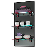 Posseik Marano 22 x 30cm Wall Shelf - None - Hacienda - Anthracite