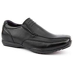 Boy Teens us Brass Comet Black Slip on Shoes