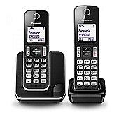 PANASONIC KXTGD312EB Digital Cordless Phone with 2 Handsets in Black