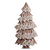 X-Large Wooden Christmas Tree Advent Calendar With Numbered Bags