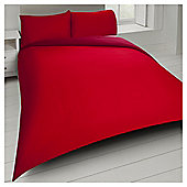 Tesco Basics Reversible Duvet Set  and Sand, - Red