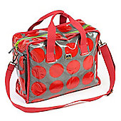 Caboodle Fun & Funky Changing Bag (Red Spot with Green Trim)