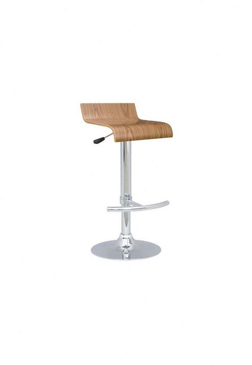 Home Zone Furniture Arena Bar Stool in White (Set of 2) - Walnut