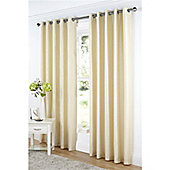 Dreams and Drapes Java Lined Eyelet Faux Silk Curtains 66x72 inches (168x183cm) - Cream